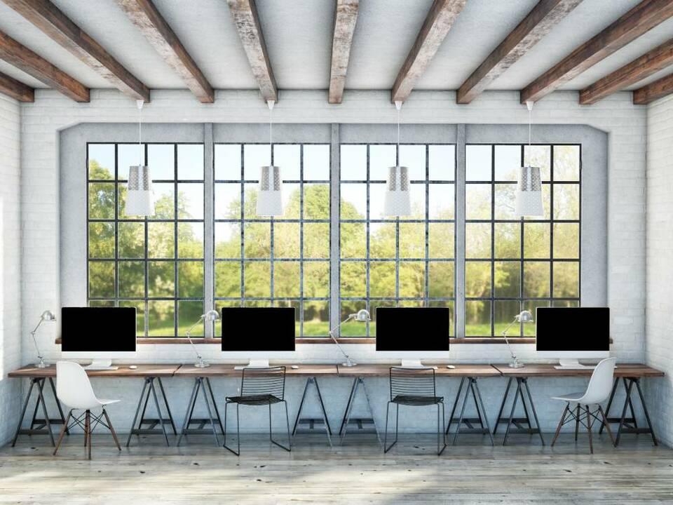 light open office space