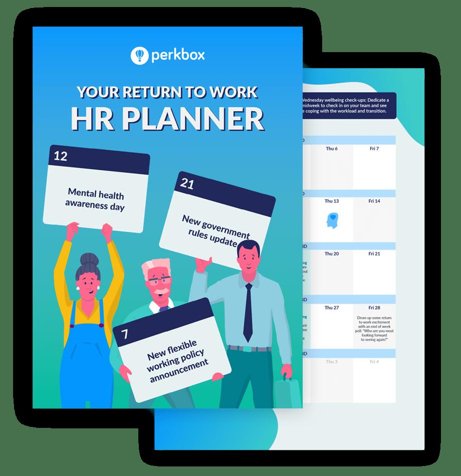 return to work hr monthly planner