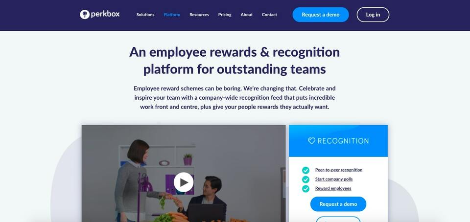 perkbox recognition platform screenshot