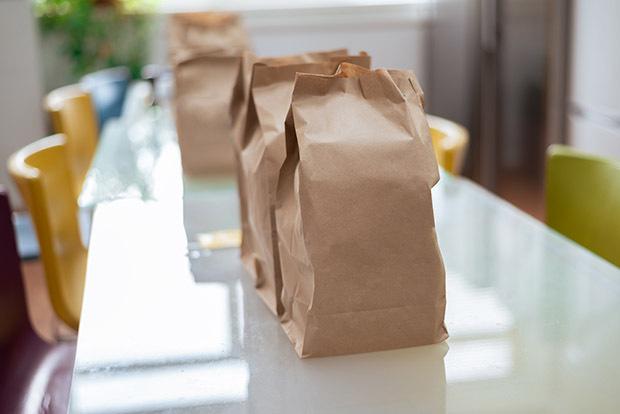 food being delivered