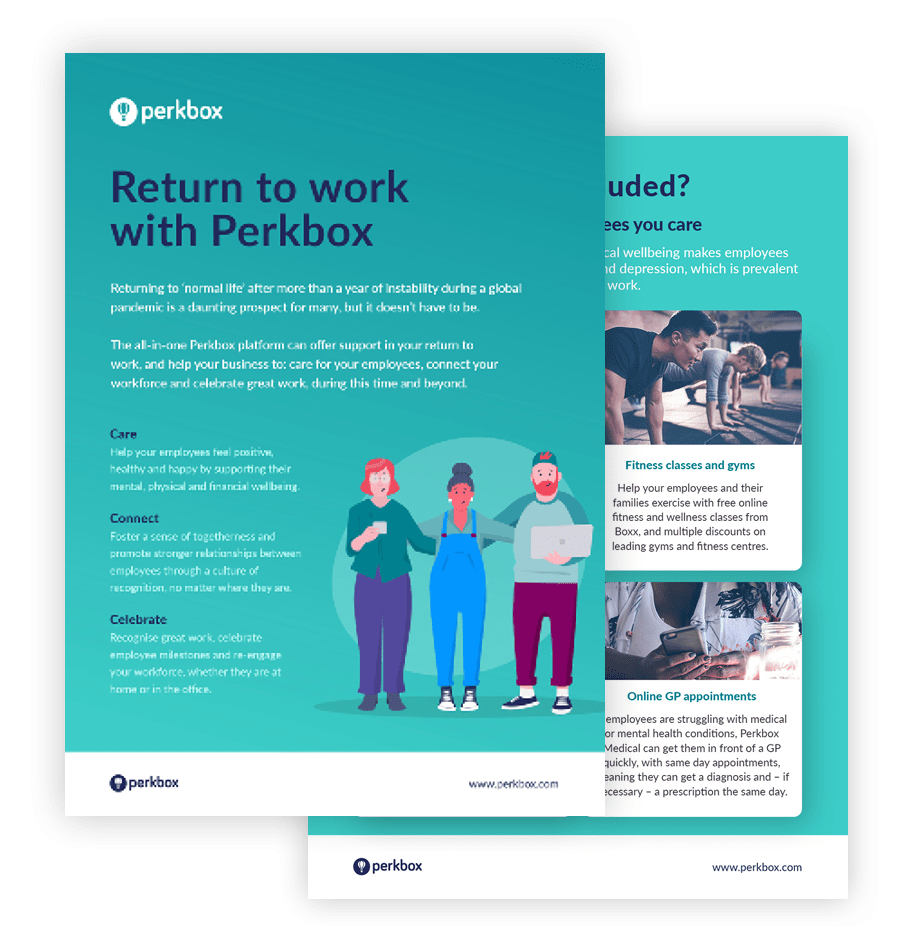return to work with Perkbox brochure cover
