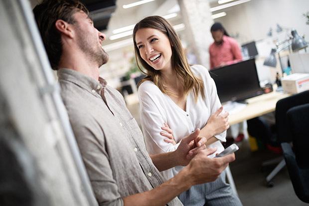 happy engaged employee