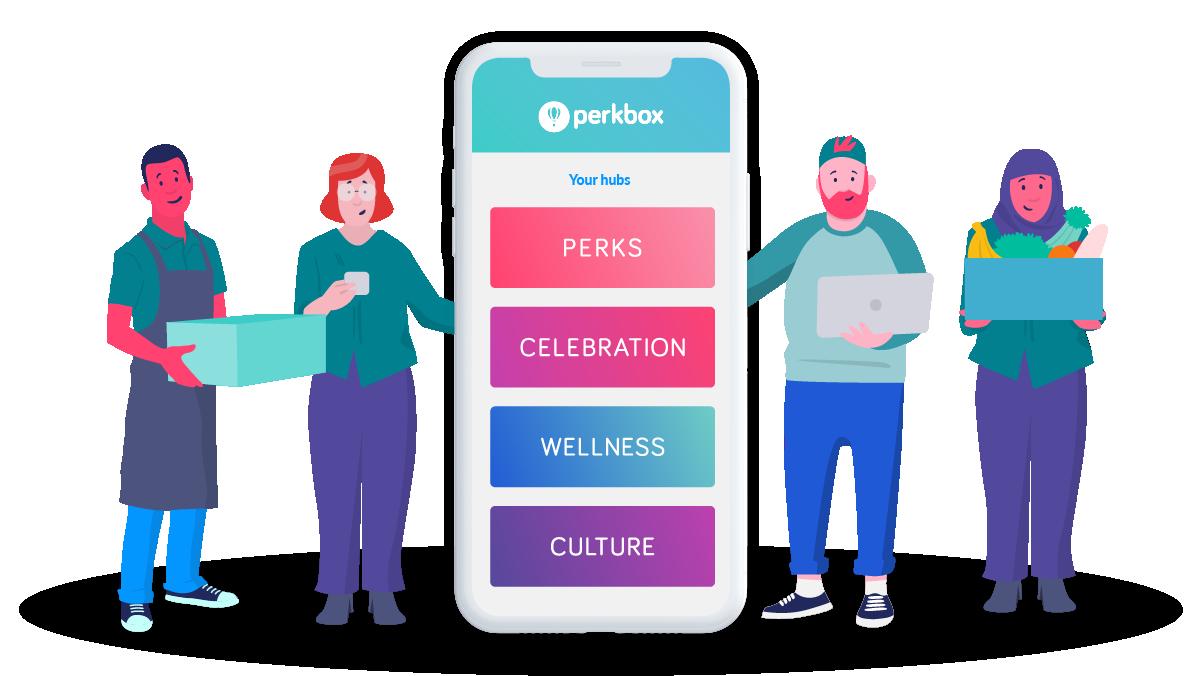 perks hub with people