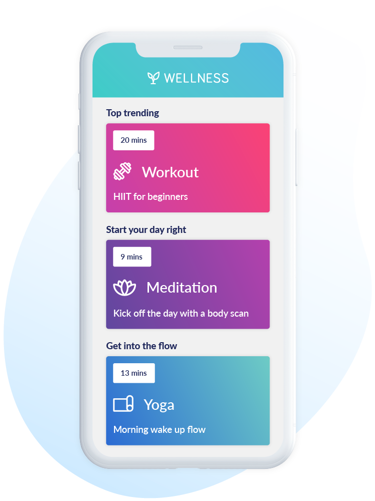 curated wellbeing content on wellness hub