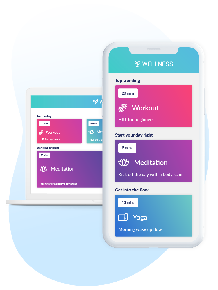 wellness hub is available anywhere, any time
