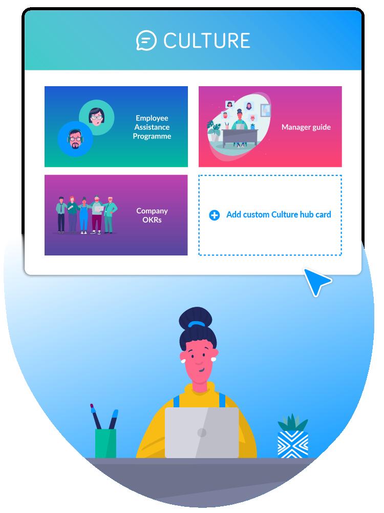 add custom cards on culture hub