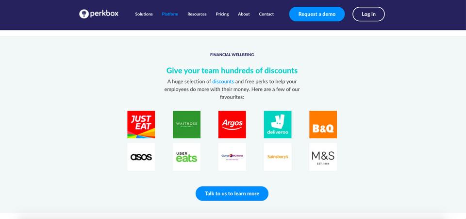 Perkbox discounts company logos