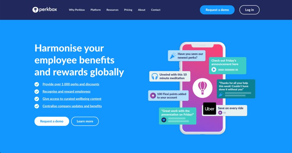Perkbox homepage