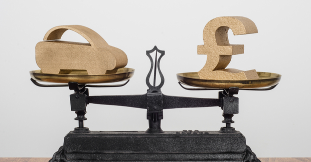 car sales old balance scales pounds sterling