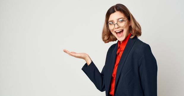 Happy women with glasses