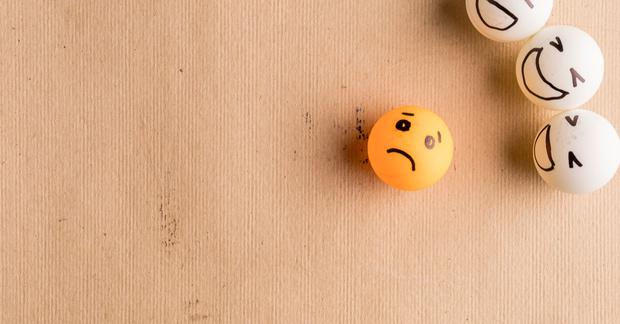 bouncy ball sad face