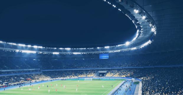 Football stadium for Champions League final