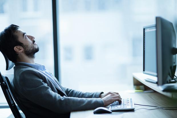 bored employee avoiding work
