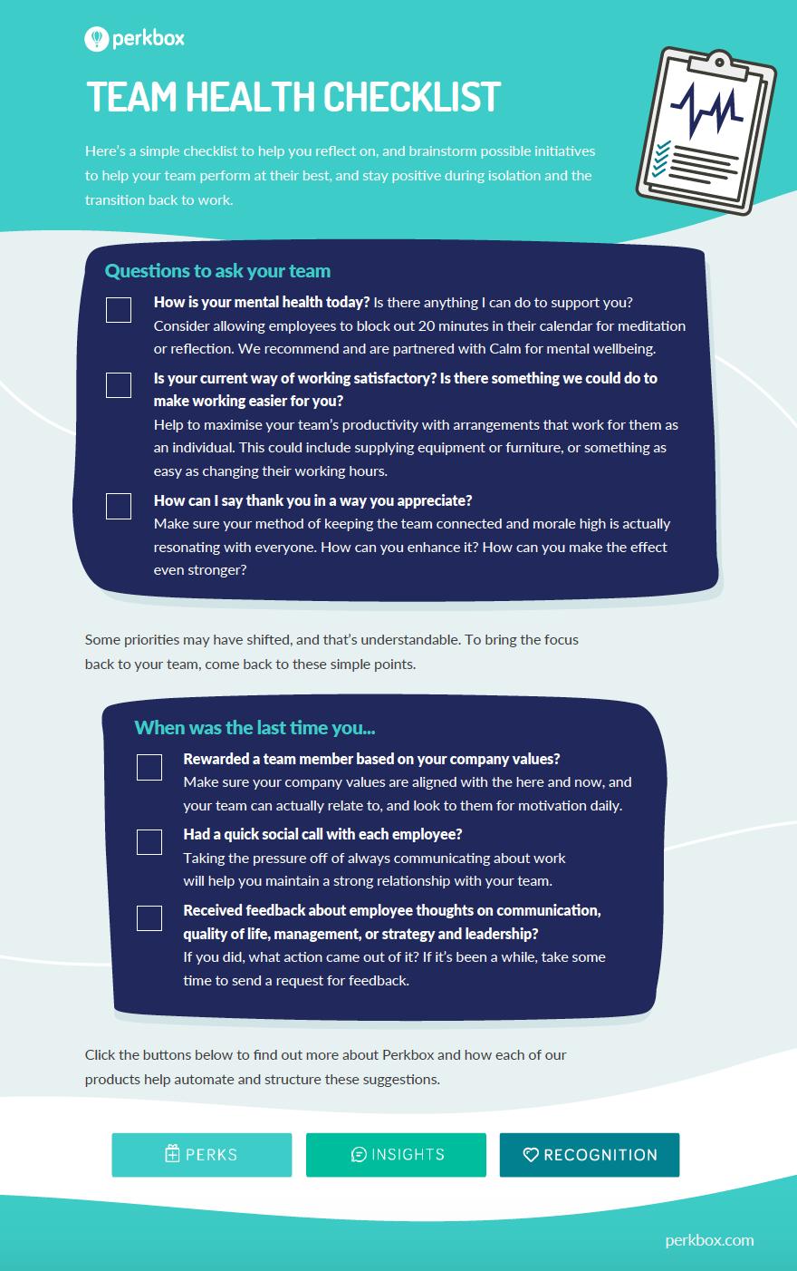 Team health checklist