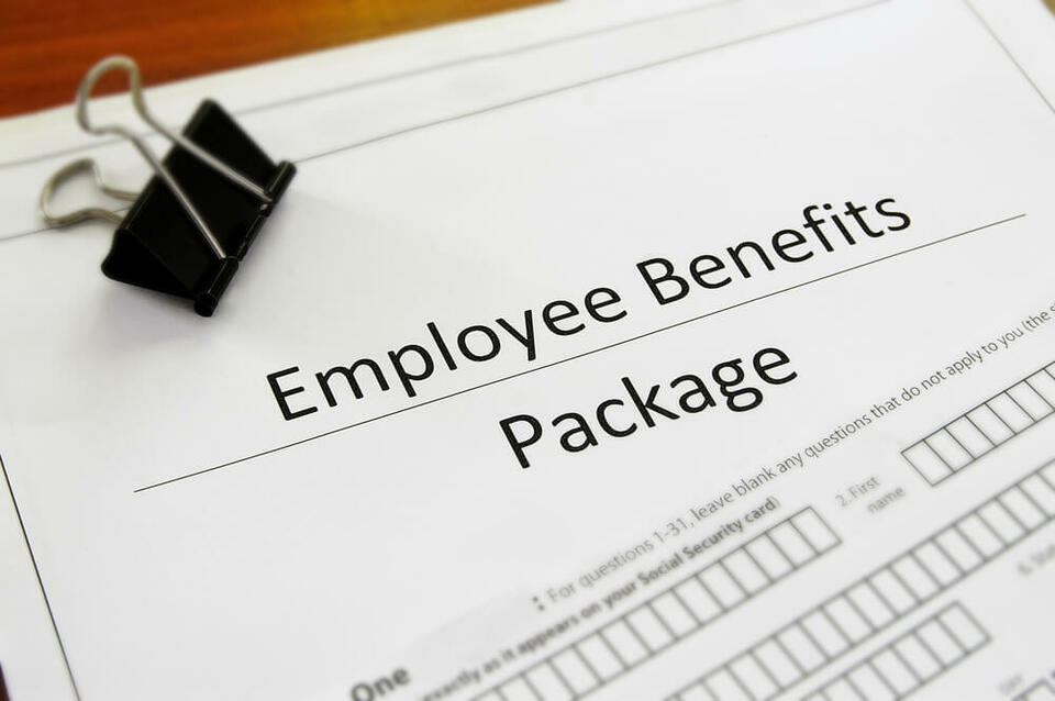 Employee benefits package written up