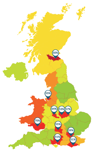 Stress map of uk