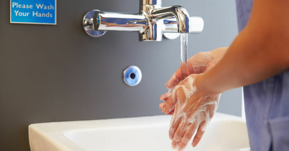 Doctors washing their hands