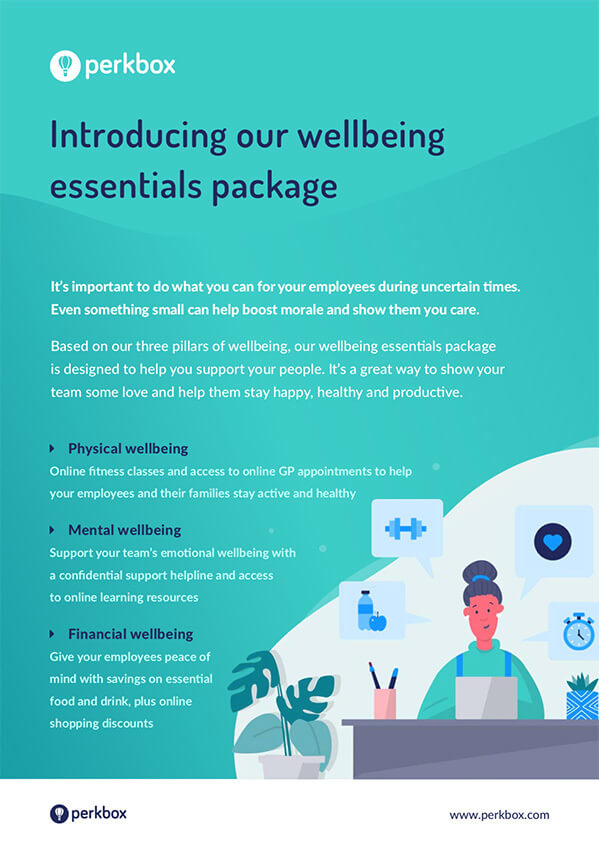 Introducing our wellbeing essentials package