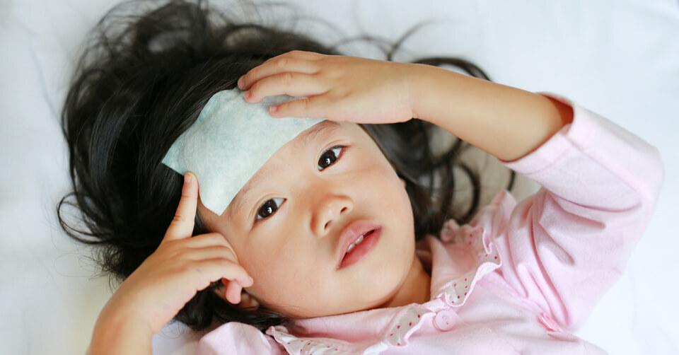 Unwell little girl