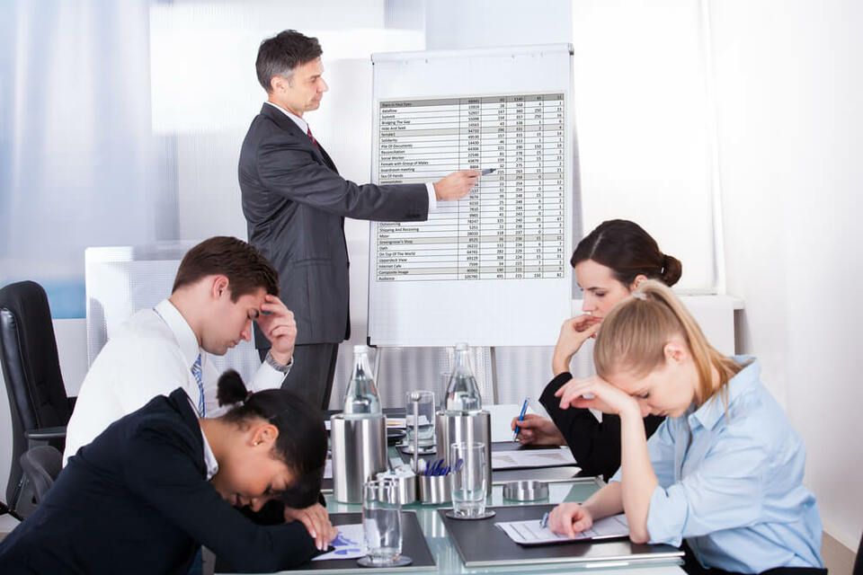 Group of people unwell in work