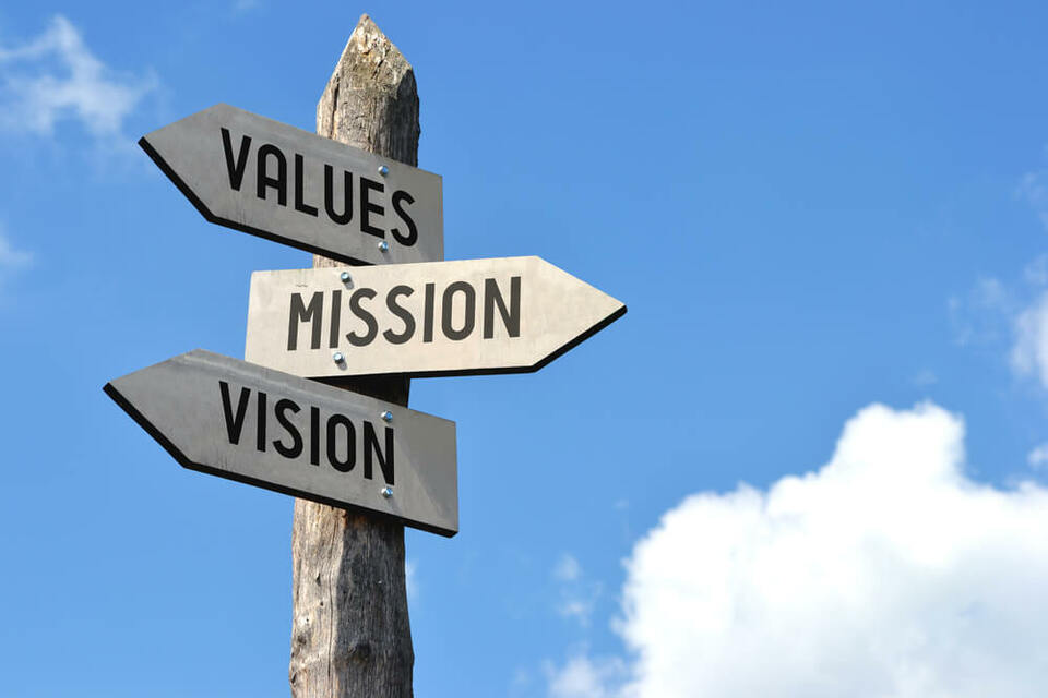 company values and mission