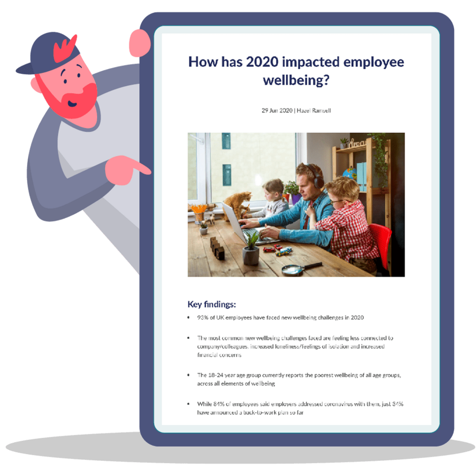 How has 2020 impacted employee wellbeing?