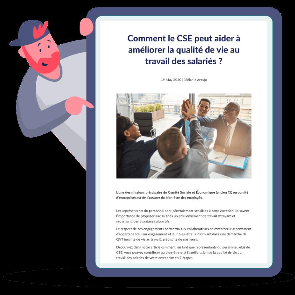 Comment le CSE peut aider à améliorer la qualité de vie au travail des salariés ?