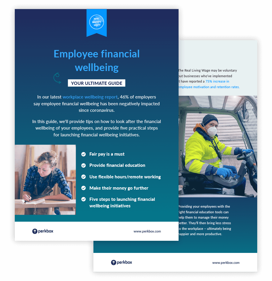 Employee financial wellbeing checklist cover