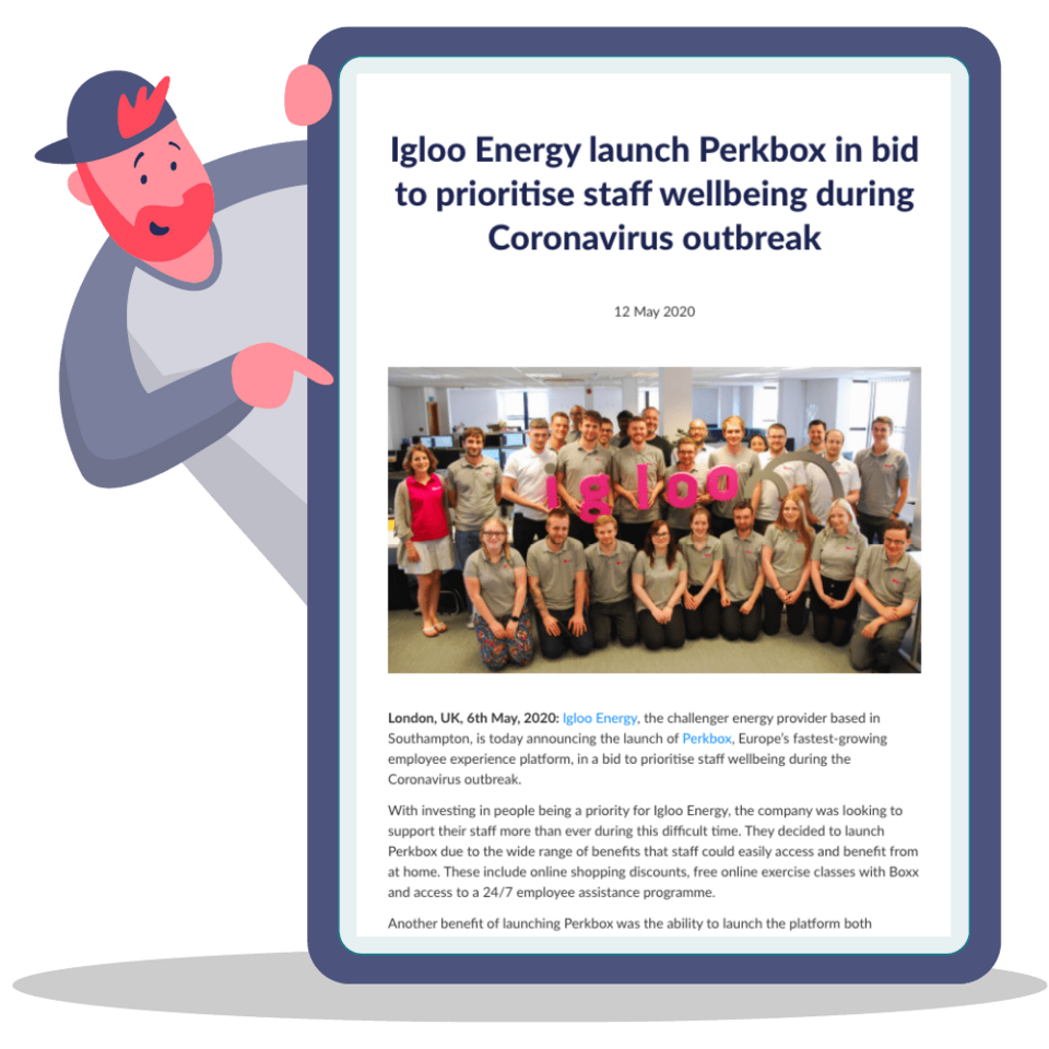 Igloo Energy launch Perkbox in bid to prioritise staff wellbeing during Coronavirus outbreak
