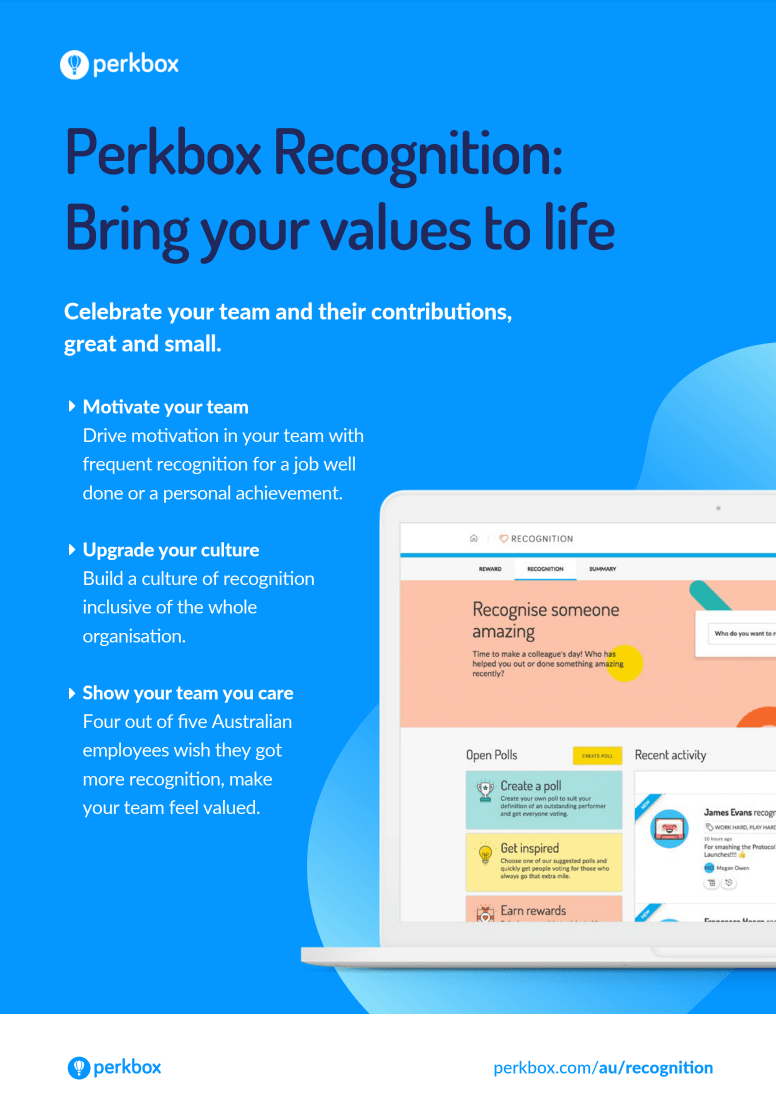 Bring your company values to life with Perkbox Recognition