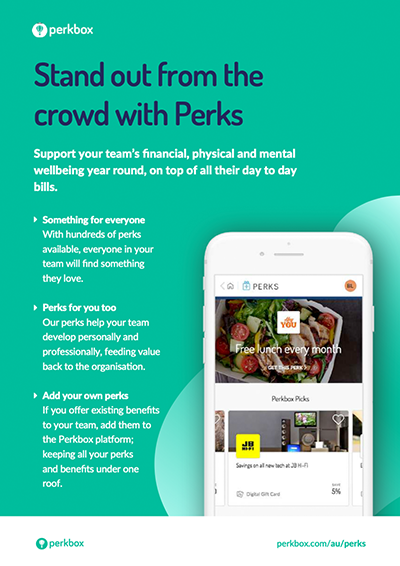 Stand out from the crowd with employee perks