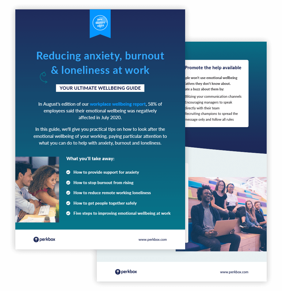 Perkbox checklist for reducing anxiety, burnout and loneliness