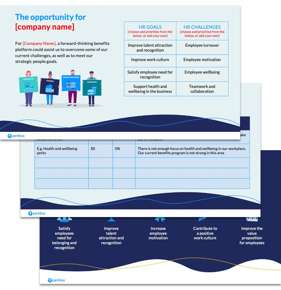 Use this template to build a business case for a new employee benefits program at your organisation